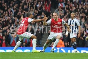 Vermaelen scores for Arsenal