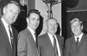 Happy Families: Taylor, Clough, Longson and Shackleton upon Clough's appointment