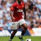Luis Nani in action for Manchester United v City