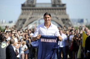 New PSG player Zlatan Ibrahimovic