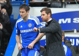 Andres Villas-Boas with Frank Lampard, one of several Chelsea players unhappy at being dropped by AVB during his nine-month reign