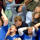 In a superficial move to placade the Chelsea fans upset over Jose Mourinho's departure, Abramovich and club director, Eugene Tenenbaum, sat - without security guards - among the fans in this match. However, following Shevchenko's struggles and Drogba's sending-off, it would prove to be Chelsea's fourth consecutive Premier League match without scoring,