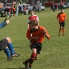 Mick Russon scores at Highwayman FC