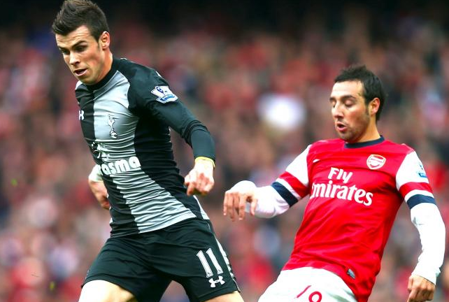 Bale Cazorla Arsenal Spurs