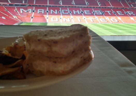 Manchester United prawn sandwiches