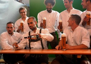 PIC: Pep Guardiola is enjoying the German life it seems