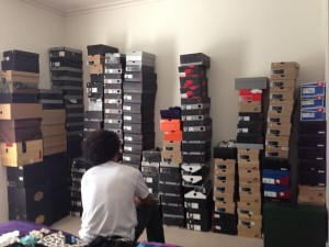 Tottenham defender Assou-Ekotto has a fantastic shoe collection