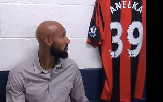 "Nicolas Anelka and the ""Quenelle"" gesture"
