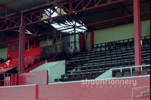 Fire damage at Doncaster's Belle Vue ground