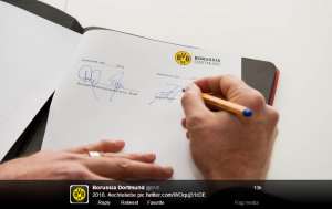 @BVB's elegant reveal of Jurgen Klopp's new contract