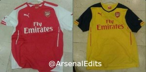 Leaked Arsenal 2014/15 kits from Puma