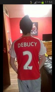 Another Arsenal fan with a total jersey fail