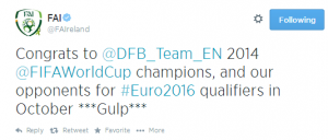 Pic: FAI's Twitter account can't wait for Ireland v Germany