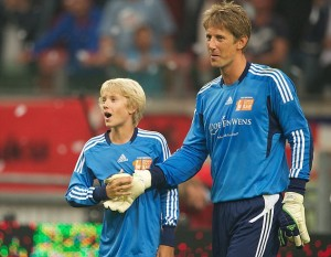 Joe and father Edwin Van Der Sar