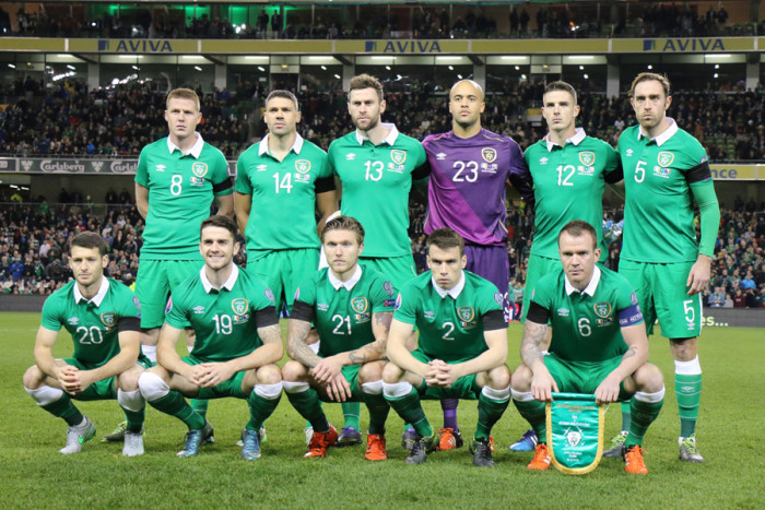 Ireland team photo Bosnia