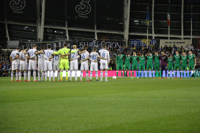 Ireland Bosnia minute's silence