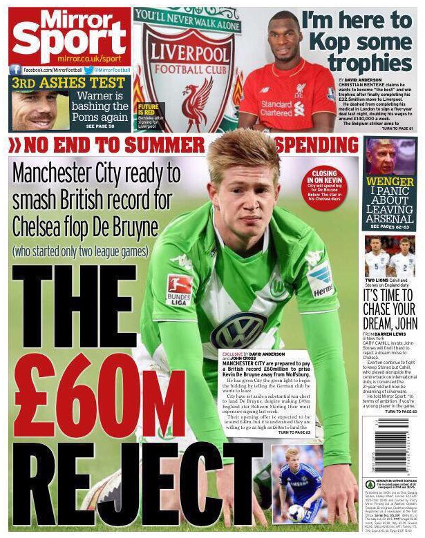De Bruyne Mirror Reject