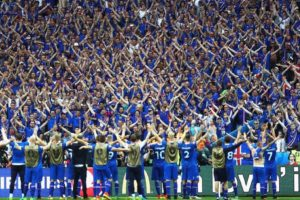 Video: The brilliant celebration by Iceland players and fans after beating England