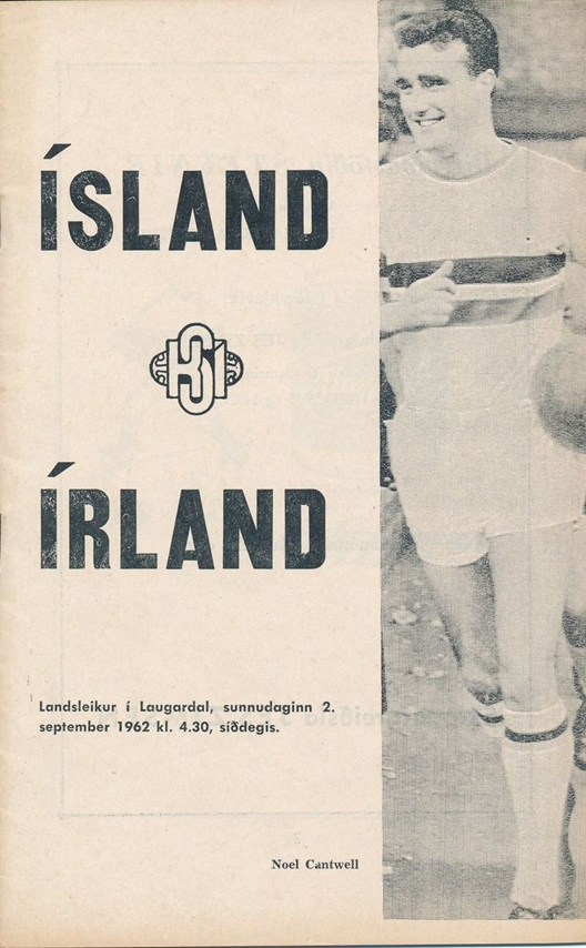 The match programme from Ireland's game with Austria, featuring Noel Cantwell