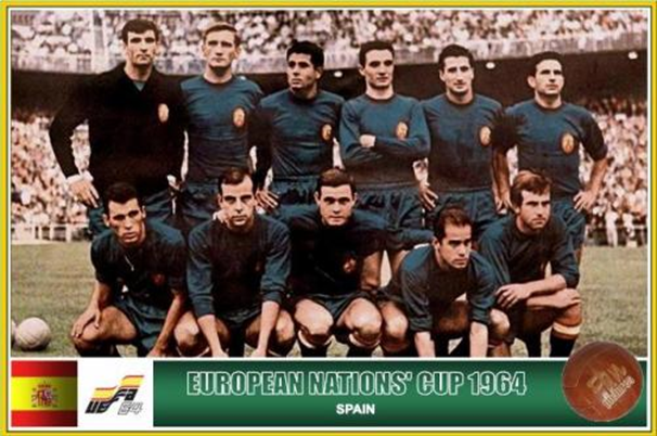 The victorious Spain side of 1964