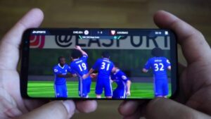 Mobile phone trending for football matches