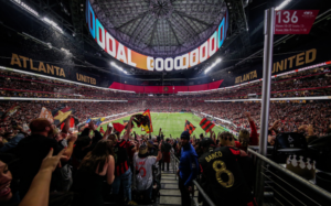 Enjoy an exciting soccer experience at the Mercedes-Benz Stadium